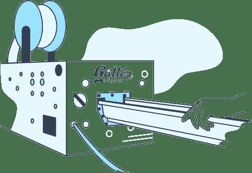 Gutter making machine